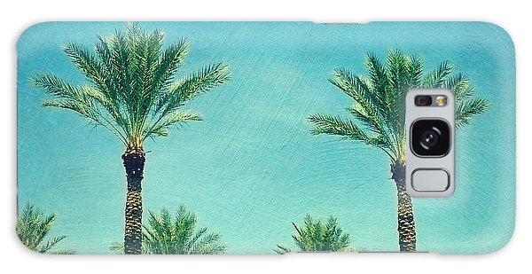 Travel Galaxy Case - Meet Me In Paradise- Palm Trees With Typography by Sylvia Cook
