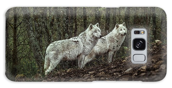 Furry Galaxy Case - Meeting With White Wolves by Ronan Siri