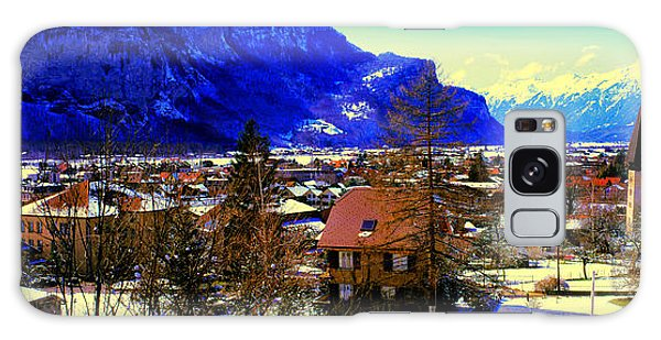 Meiringen Switzerland Alpine Village Galaxy Case