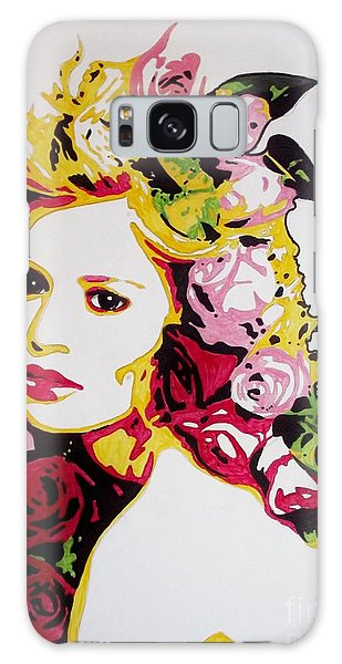 Melancholy With Roses Galaxy Case