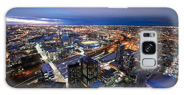 Melbourne At Night Galaxy Case