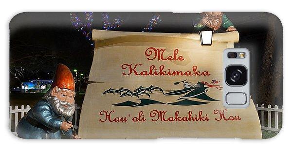 Mele Kalikimaka Sign And Elves Galaxy Case