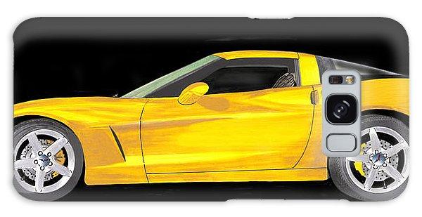 Mellow Yellow Corvette C 6 Galaxy Case