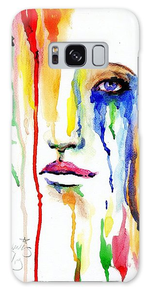 Melting Dreams Galaxy Case by P J Lewis