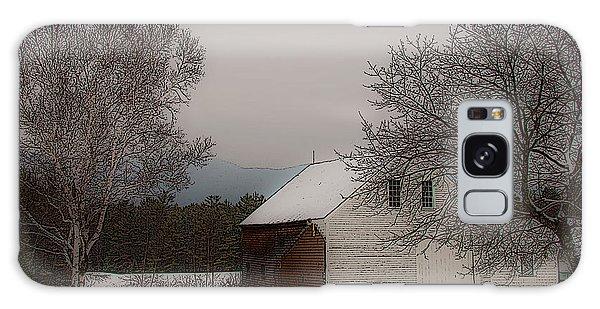 Melvin Village Barn In Winter Galaxy Case
