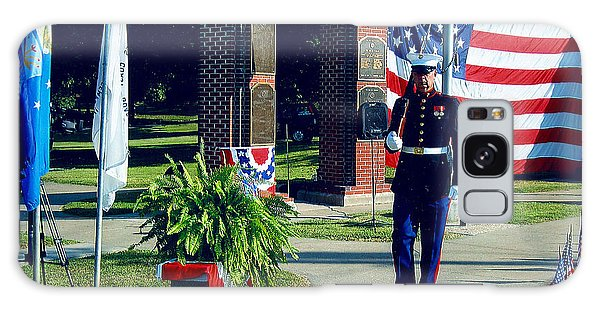 Memorial Day Honor Guard Galaxy Case by Margaret Harmon