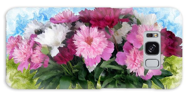 Memorial Day Peonies Galaxy Case by Ric Darrell