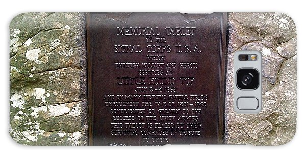 Memorial Tablet To Signal Corps U.s.a. Galaxy Case