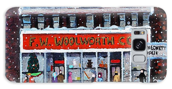 Memories Of Winter At Woolworth's Galaxy Case by Rita Brown
