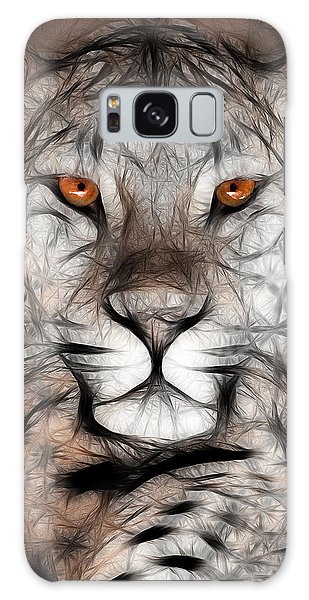 Memphis Leopard Artwork Galaxy Case