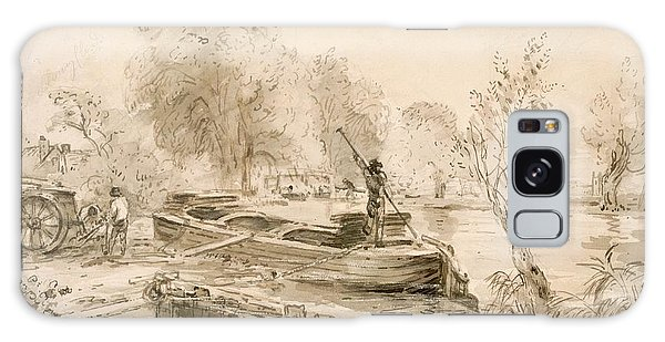 Cart Galaxy Case - Men Loading A Barge On The Stour, 1827 by John Constable
