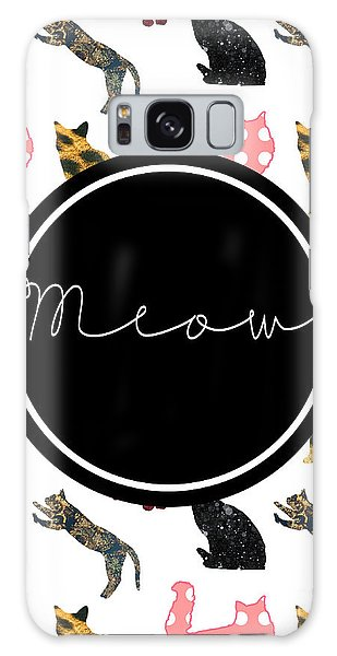 Cat Galaxy S8 Case - Meow by Pati Photography