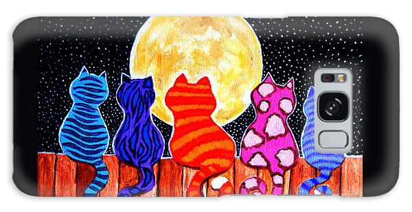 Fun Galaxy Case - Meowing At Midnight by Nick Gustafson
