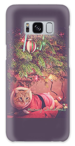 Meowy Christmas Galaxy Case