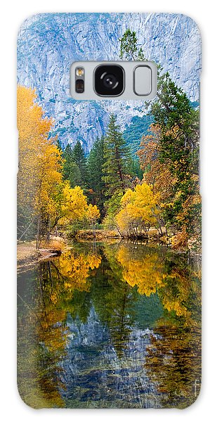 Merced River And Leaning Pine Galaxy Case by Terry Garvin