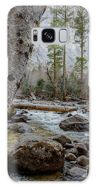 Merced River From Happy Isles Galaxy Case by Terry Garvin