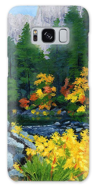 Merced River In Autumn Galaxy Case by Alice Leggett
