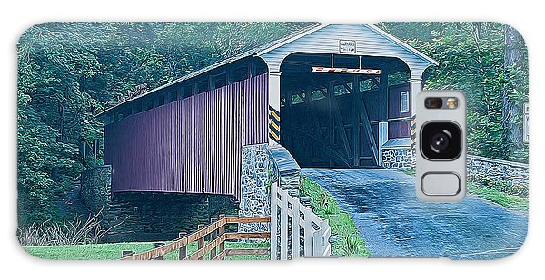 Mercer's Mill Covered Bridge Galaxy Case by Michael Porchik