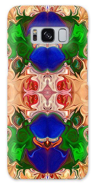 Galaxy Case featuring the digital art Merging Consciousness With Abstract Artwork By Omaste Witkowski  by Omaste Witkowski
