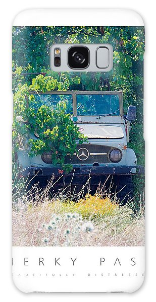 Merky Past Beautifully Distressed Poster Galaxy Case by David Davies