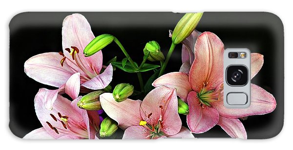Merlot Lilies Galaxy Case by Jp Grace