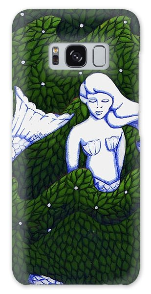 Mermaid At The Garden Galaxy Case