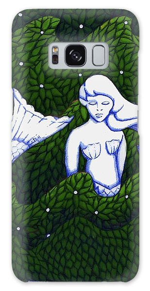 Mermaid At The Garden Galaxy Case by Donna Huntriss