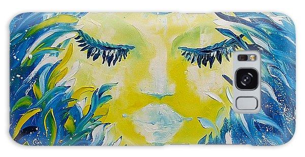 Mermaid Face Portrait Galaxy Case