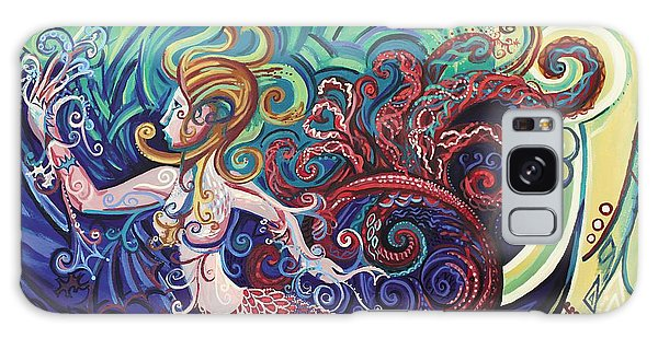Mermaid Gargoyle Galaxy Case by Genevieve Esson