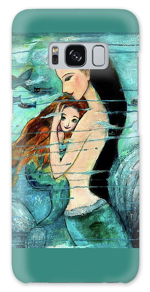 Mermaid Mother And Child Galaxy Case