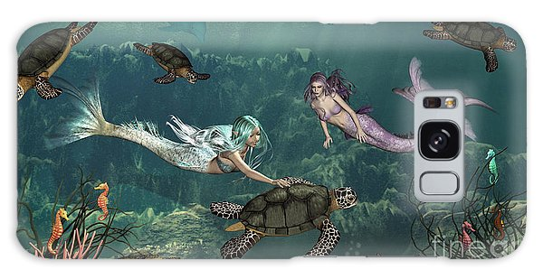 Mermaids At Turtle Springs Galaxy Case