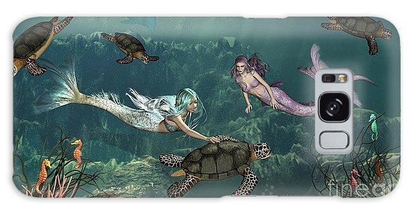 Mermaids At Turtle Springs Galaxy Case