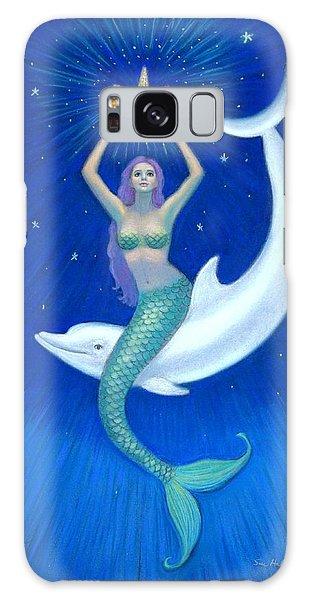 Mermaids- Dolphin Moon Mermaid Galaxy Case