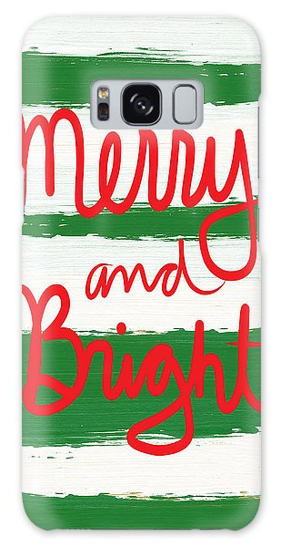 Holiday Galaxy Case - Merry And Bright- Greeting Card by Linda Woods