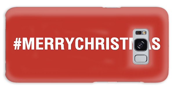 Holiday Galaxy Case - Merry Christmas Hashtag by Linda Woods