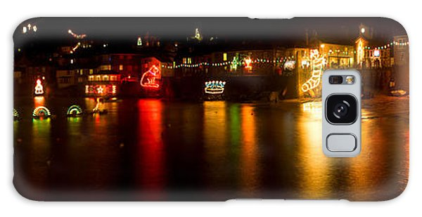 Merry Christmas Mousehole Lights Galaxy Case