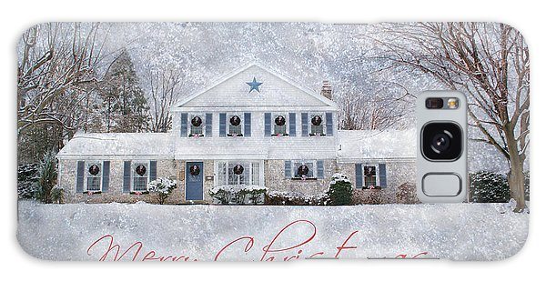 Wintry Holiday - Merry Christmas Galaxy Case