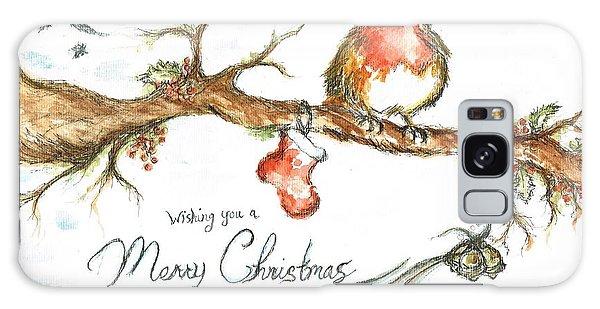 Merry Christmas Robin Galaxy Case