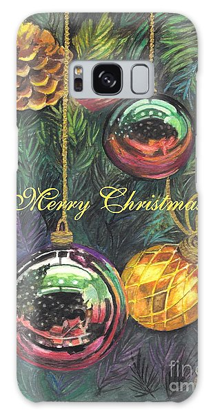Merry Christmas Wishes Galaxy Case