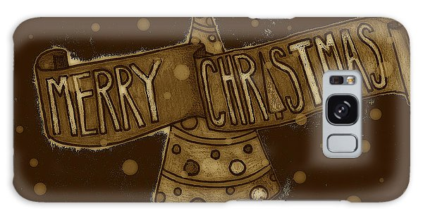 Merry Sepia Christmas Galaxy Case