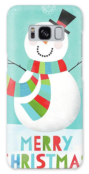 Merry Snowman IIi Galaxy Case by Lamai Mccartan