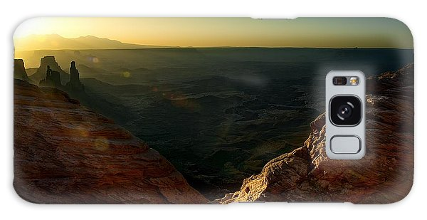 Mesa Arch Without The Arch Galaxy Case by Mark Garbowski