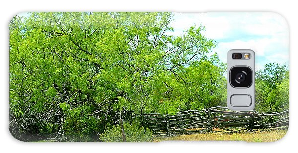 Mesquite Tree And Cedar Post Fence Galaxy Case
