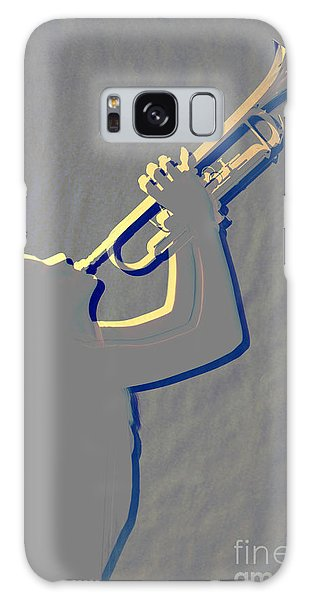 Metal Print Of Trumpet Music Instrument And Girl 3016.04 Galaxy Case