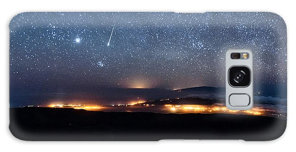Meteor Over The Big Island Galaxy Case