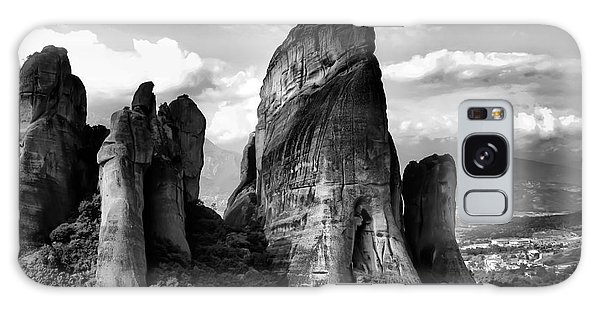 Meteora Greece Strange Rock Formation Galaxy Case