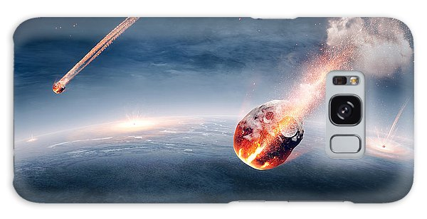 Earth Galaxy Case - Meteorites On Their Way To Earth by Johan Swanepoel