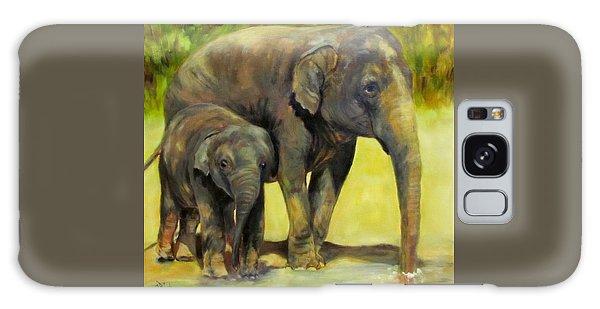 Thirsty, Methai And Baylor, Elephants  Galaxy Case
