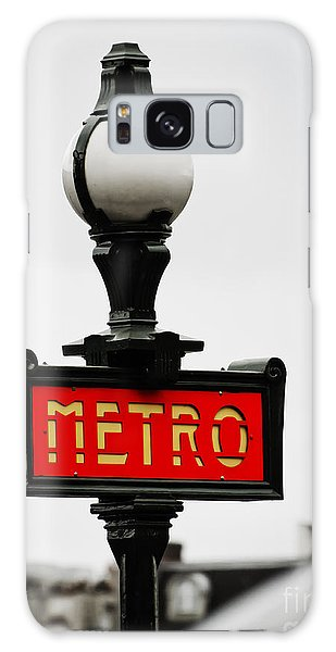 Metro Sign In Paris Galaxy Case by MaryJane Armstrong