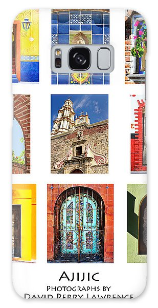 Colorful Mexican Doors, Ajijic Mexico - Travel Photography By David Perry Lawrence Galaxy Case by David Perry Lawrence